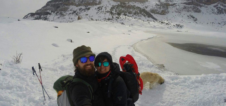 Raqueta de nieve - Ibón Piedrafita de Jaca - La Caracoleta